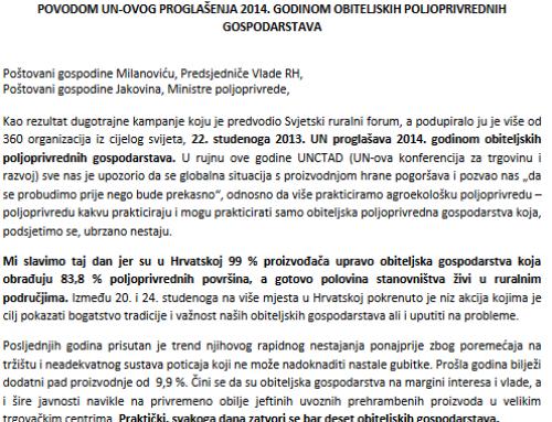 Ekoregija Velika Gorica potpisala otvoreno pismo Vladi RH i Ministarstvu poljoprivrede