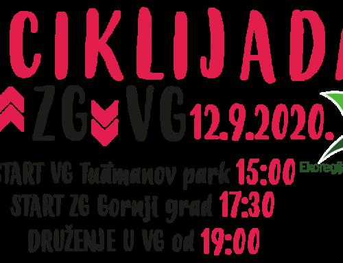 POČINJU PRIJAVE ZA BICIKLIJADU VG-ZG-VG 12.09.2020.